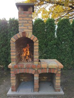 Brick Built Bbq, Brick Bbq, Brick Building, Building Plans, Outside Fireplace, Outdoor Living, Outdoor Decor, Backyard Patio, Garden Design