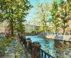 painting of St Petersburg - by Paul Eskov