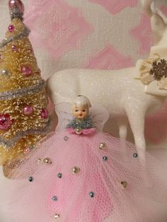 Vintage Pink Christmas Angel Topper Tree by MarshmallowCreations, $30.00
