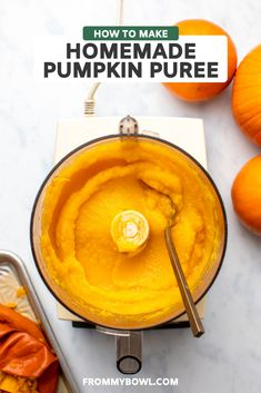 Learn how to make your own pumpkin puree at home! Homemade pumpkin puree requires only 1 ingredient and is creamy, sweet, and nutritious. Perfect for any of your fall recipes and tastes so much better than canned! Bring on the Pumpkin Pie!!!! Healthy Vegan Desserts, Vegetarian Recipes Easy, Delicious Vegan Recipes, Healthy Dessert Recipes, Delicious Desserts, Fall Recipes, Holiday Recipes, Clean Recipes, Pumpkin Recipes