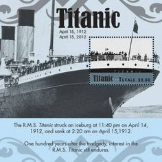 Tuvalu – Titanic Passenger Ship 100 Years Souvenir Sheet – TUV1203S | eBay