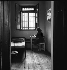 """David """"Chim"""" Seymour Young Prostitute in Her Cell in a Prison for Juvenile Delinquents, Vienna, Austria 1948 Magnum Photos, Henri Cartier Bresson, Prison, Seymour, David, Art Corner, Photographer Portfolio, Political Events, Pictures Of People"""