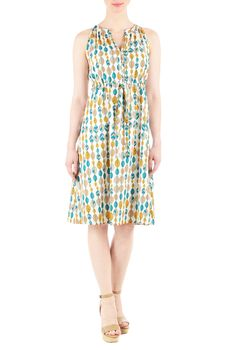 Autumn Leaf Graphic Print Dress: All Women's Dresses at eShakti - CL0037430 | eShakti - On this site you can customize to your measurments and height - I say WOW I found my Fashion site.