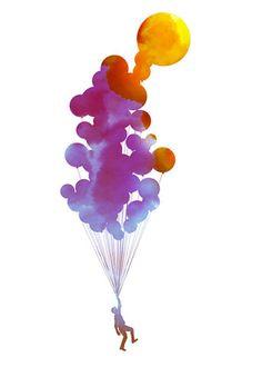 To The Sky Up Ballons Sun