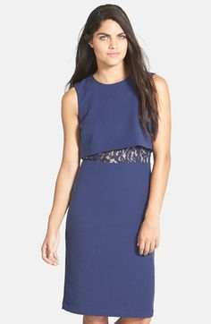 BCBGMAXAZRIA Lace Inset Popover Dress available at #Nordstrom