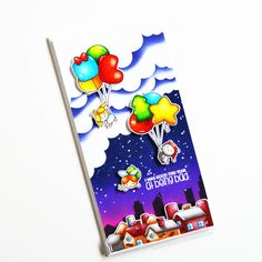 Stamps: Balloon Bunch Christmas, Christmas Plushies / Stencils: Cloudy Day, Tale of Two Cities Christmas Balloons, Christmas Christmas, Christmas Ideas, Cloudy Day, Clear Stamps, Plushies, Elf, Snowman, Card Ideas