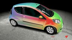 New Rainbow Glitter Effect Vinyl Wrap Car Wrapping