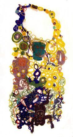 Joyce J. Scott Bib Neckpiece, 2009 Woven glass beads; Courtesy of Mobilia Gallery