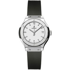 Hublot Classic Fusion Quartz 33mm 581.nx.2611.rx Watch (14,625 SAR) ❤ liked on Polyvore featuring jewelry, watches, titanium, quartz jewelry, hublot, quartz watches, bezel watches and hublot watches