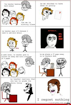 Trolling the Teacher - Other - Aug 24, 2012 - Rage Comics - Ragestache