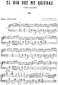 El día que me quieras [b]. Tango Flute Sheet Music, Violin Sheet, Piano Music, Music Score, Playing Piano, Easy Piano, Guitar Songs, Music Therapy, Saxophone