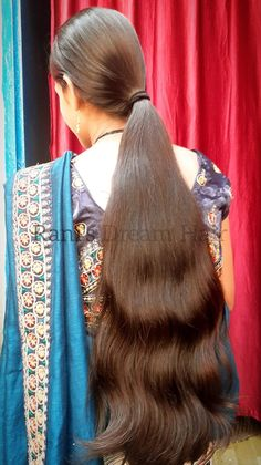 Indian Long Hair Braid, Long Hair Ponytail, Braids For Long Hair, Ponytail Hairstyles, Girl Hairstyles, Long Silky Hair, Long Black Hair, Super Long Hair, Hair Girls