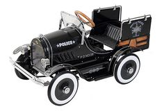 grandkids one day! Police Pick Up Roadster Pedal Car, Black on