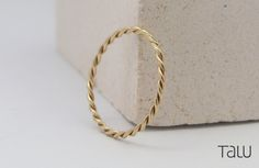 Twist Gold Ring, Braid Style, Minimal Design, Twist Wedding Band, Stacking Ring, Gold Rope Style, Twisted band, 14k Solid Gold, Dainty Ring by TALUrockngold on Etsy Gold Diamond Rings, Gold Bands, Gold Ring, Braided Ring, Twist Ring, Minimal Jewelry, Dainty Ring, Beautiful Gift Boxes, Diamond Are A Girls Best Friend