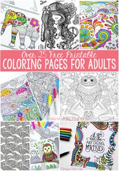 Free Coloring Pages for Adults. Mega stress buster!