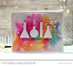 Sweet Love Chemistry Explosion Card by Julia Stainton featuring MFT STamps