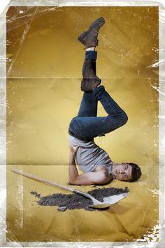 Man Pin-Up (Man-Up) by Rion Sabean #art #photography #pinup #funny
