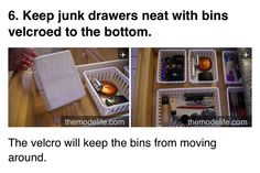 Keep your drawers organized Kitchen Organization Pantry, Storage Organization, Organizing Tips, Organize Your Life, Dream Rooms, Getting Organized, Fun Facts, Awesome Facts, Life Hacks