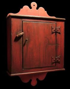Reproduction 1790 Chester County Spice Cupboard by Daryl McMahon. Primitive Shelves, Primitive Cabinets, Primitive Furniture, Antique Furniture, Painted Furniture, Hutch Furniture, Antique Hutch, Antique Chairs, Furniture Movers