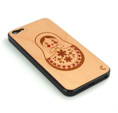 Matryoshka with crystals iPhone 5 Wood Skin - Free Shipping - Made in Europe