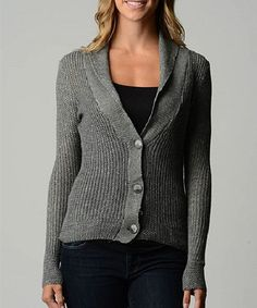 Another great find on #zulily! Gray Button-Up Cardigan #zulilyfinds