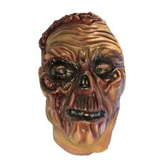 This scary half dead Halloween latex mask will make you stand out from the crowd at your next dress up party. Scary Halloween Masks, Scary Mask, Next Dresses, Latex, Lion Sculpture, Statue, Crowd, Party, Parties