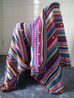 Crochet: left-over blanket (02)