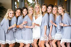 Bride And Bridesmaids At The Wedding In Pelican Hill | Design & Planning: A Good Affair Wedding & Event Production | Photographer: Jessica Claire