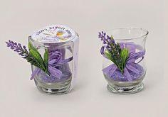 Wohnzimmerdeko violet à partir de verre