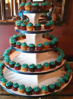 Our first official charity event as a Hoboken business! Teal mini cupcakes for Ovarian cancer!