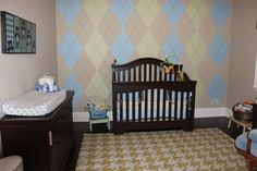 Look at the Birdie and Smile: Nursery Design: Argyle and Houndstooth and Bears Oh MY!