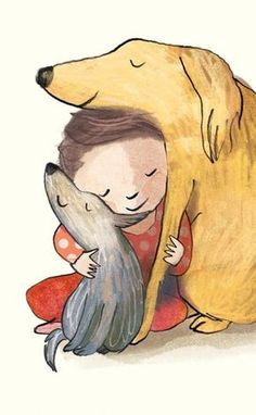 15 exquisite illustrations that sum up perfectly how much we love our pets Art And Illustration, Illustration Mignonne, Animals And Pets, Cute Animals, Amor Animal, Dog Art, I Love Dogs, Illustrators, Dog Lovers