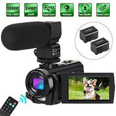 Camcorder Video Camera Digital YouTube Vlogging Camera HD 1080P 30FPS 24MP 16X Digital Zoom 3 Inch LCD Flip Screen Video Recorder with Microphone and Remote Control, 2 Batteries Price: $89.99 #trending >>#android >>>#apple >#superbrand >>#newmobile >>>#accessories Follow us @fastmart24 #fastmart24