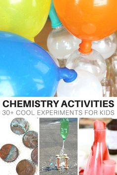 Chemistry activities and science experiments for young kids. Chemistry experiments include growing crystals, making slime, reactions, solutions, and more.
