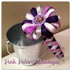 Silver and Purple Woven Headband with Detachable Bow on Etsy, $14.50 sofia the first bow