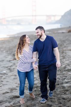 Baker Beach San Francisco Morning Engagement Session | Chico California Wedding Photography and Videography by Chico Photographer Videographer Couple TréCreative