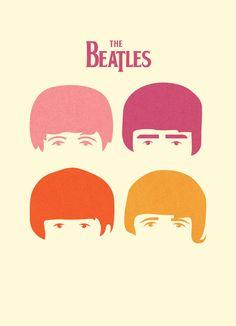 brain-food:  Minimal Beatles (by Jonathan Vizcuna)