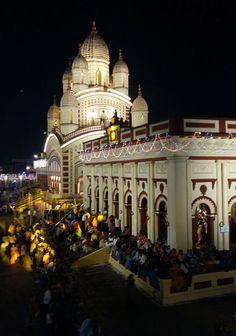 puja at dakshineshwar dgtl - Anandabazar Kali Shiva, Kali Puja, Indian Architecture, Temples, Taj Mahal, Scenery, World, Building, Places