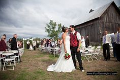 farm barn wedding northern michigan photo - 0016