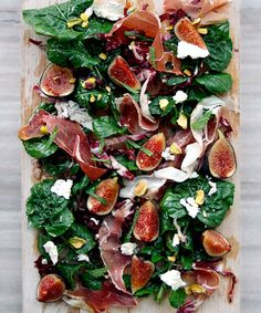 We're Obsessed With These 15 Swoon-Worthy Cheese & Charcuterie Boards Deconstructed Salad Kale Arugula Figs Prosciutto