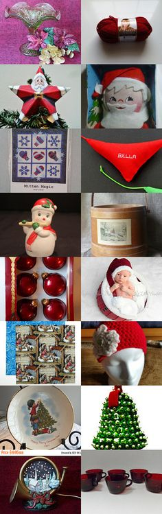 Christmas in July -- Crochet Meets Vintage team treasury by Kimberly Blose on Etsy--Pinned+with+TreasuryPin.com