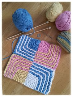 [click image to enlarge] tutorial on knitting mitered squares and picking up sts on edge to make the next little square. Other WC notes techniques