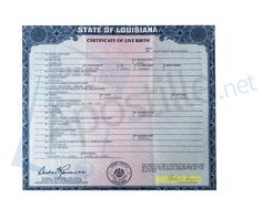 State Of Louisiana Birth Certificate Issued By Devin George