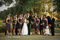 What an awesome bridal party! We love this gorgeous photo from a wedding at University Park in Sarasota, Florida! Check out our country club venue, you don't have to be a member to get married here! #UniversityParkWeddings http://www.universitypark-fl.com/weddings/ Photo by Imely Photography