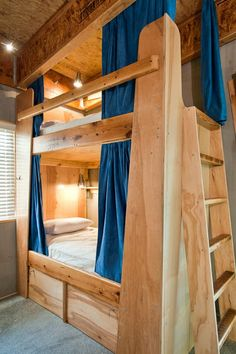 The Crash Pad luxury hostel, downtown Chattanooga. Bunk Rooms, Bunk Beds, Downtown Chattanooga, Bunk Bed Designs, Shared Rooms, Cozy Bedroom, Bedroom Ideas, Rental Apartments, Rental Property
