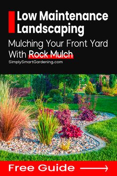Our front yard landscaping was sad and neglected. All the grass was dead and there were no flowers or plants in the garden beds. And we had just moved in, so planting a garden wasn't an option for us. Next year we'll do some low maintenance landscaping. But for now we landscaped with rock mulch. After reading this article about landscaping with rock mulch we got a truckload of rock mulch delivered to us and couldn't be happier with the results! Plus, there's a free mulch guide you can download! Landscaping With Rocks, Outdoor Landscaping, Front Yard Landscaping, Landscaping Ideas, Easy Garden, Garden Tips, Garden Ideas, Garden Soil, Gardening