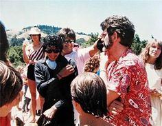 1985年7月初旬、キャプテンEO撮影時期。 ジョージ・ルーカス監督所有のスカイウォーカー・ランチにて開催された ルーカスフィルム恒例のピクニック