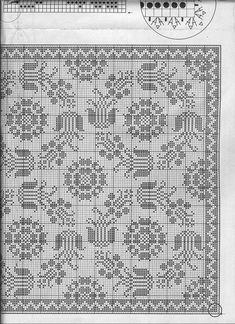 "Photo from album ""Elena Crochet D& No. Filet Crochet Charts, Knitting Charts, Crochet Stitches, Crochet Patterns, Embroidery Patterns, Blackwork Embroidery, Cross Stitch Embroidery, Crochet Tablecloth, Crochet Doilies"