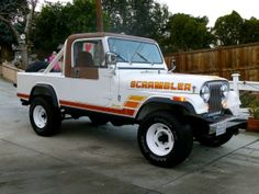 Learn more about Restored 1984 Jeep Scrambler on Bring a Trailer, the home of the best vintage and classic cars online. Cj Jeep, Jeep Wrangler, Jeep Pickup Truck, Jeep Scrambler, 4x4, Jeep Camping, Girly Car, Sweet Cars, Chevrolet Trucks