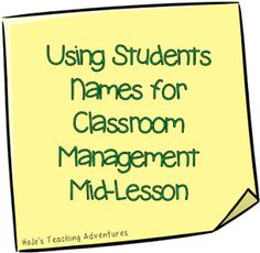Try this classroom management strategy! It really works, and you don't have to stop the lesson for it!